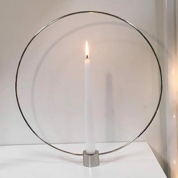 Ljusstake Circle Silver 32cm