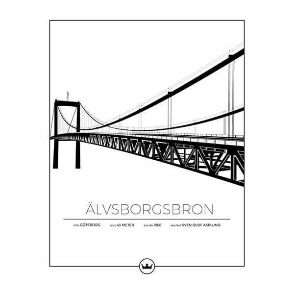 Poster Älvsborgsbron - Göteborg
