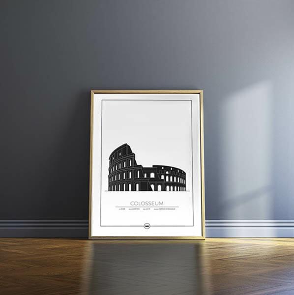 Poster av Colosseum - Rom