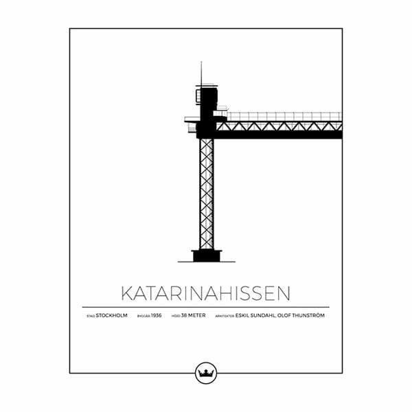 Poster av Katarinahissen - Stockholm