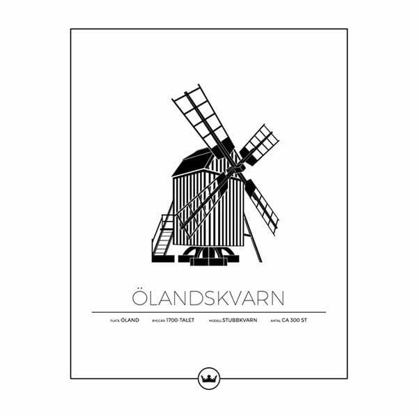 Poster av Ölandskvarn - Öland