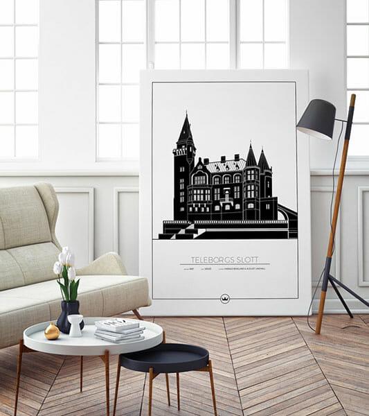 Poster av Teleborgs Slott - Växjö