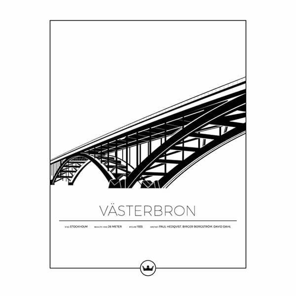 Poster Av Västerbron - Stockholm