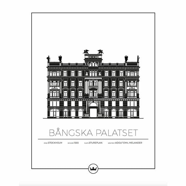Poster Bångska Palatset - Stockholm