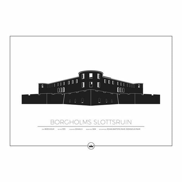 Poster Borgholms Slottsruin - Öland / Borgholm