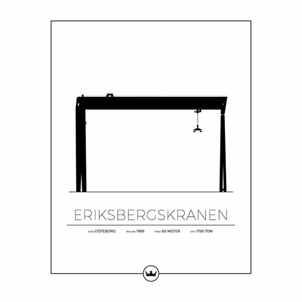 Poster Eriksbergskranen - Göteborg