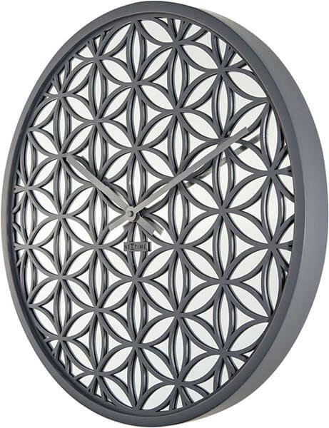 Bella Mirror Väggklocka Grå, 50 cm