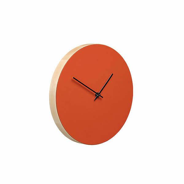 Kiekko Wall Clock, Röd