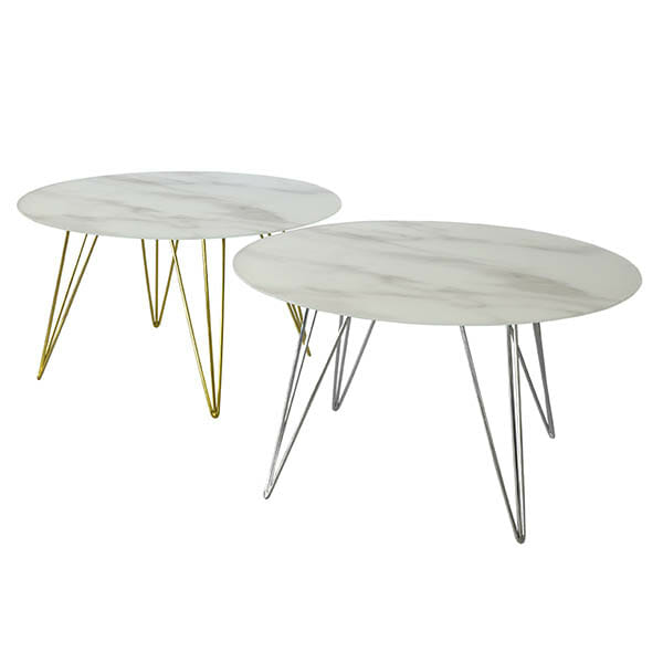 Köp Sevilla Soffbord runt, ljus marmor blank mässing för 2099 kr hos Boldliving se