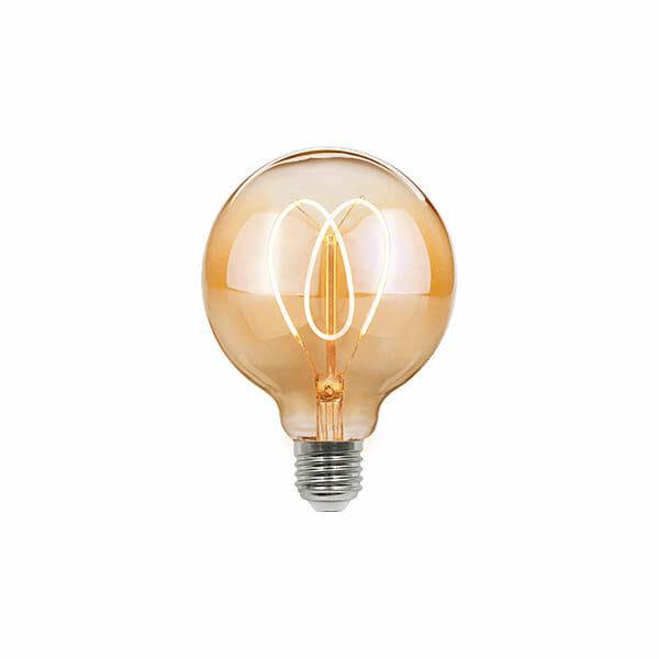 Vintage LED Hjärta Glödlampa - G95