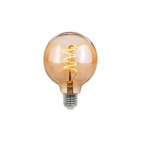 Vintage LED Spiral Glödlampa – G95