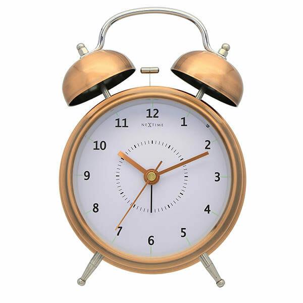 Wake Up Alarmklocka Koppar, 15 cm