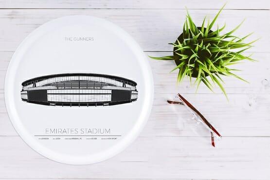 Bricka Emirates Stadium London, England, Rund 38cm