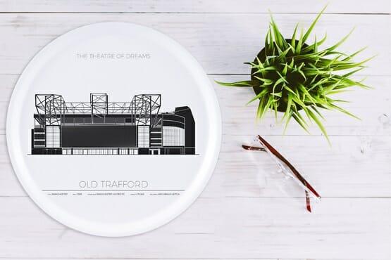 Bricka Old Trafford Manchester, England, Rund 38cm