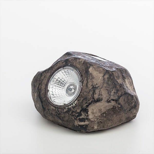 Dekorativ sten med solcellsbelysning, Brun