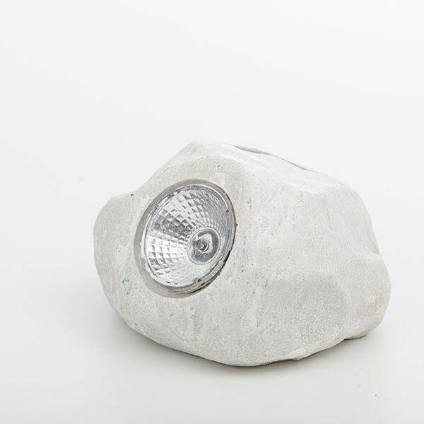 Dekorativ sten med solcellsbelysning, Vit