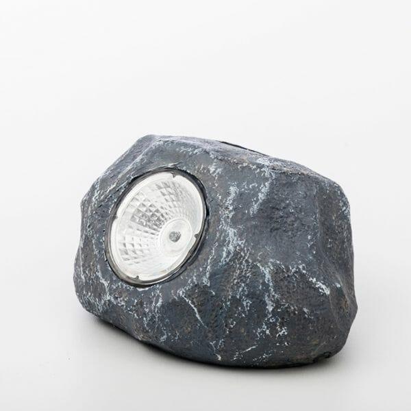 Dekorativ sten med solcellsbelysning, Grå