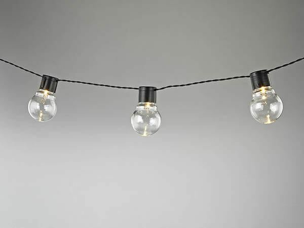 Ljusslinga glödlampor 2 m, Vit