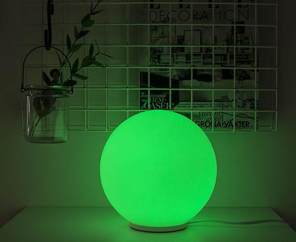 Bordslampa, färgväxlande RGB-glaslampa