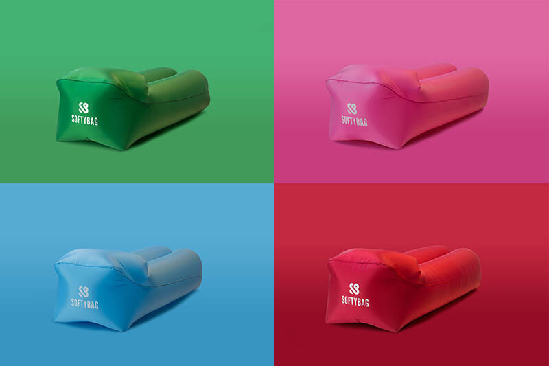 Nu finns Softybags uppblåsbara soffor i sortimentet
