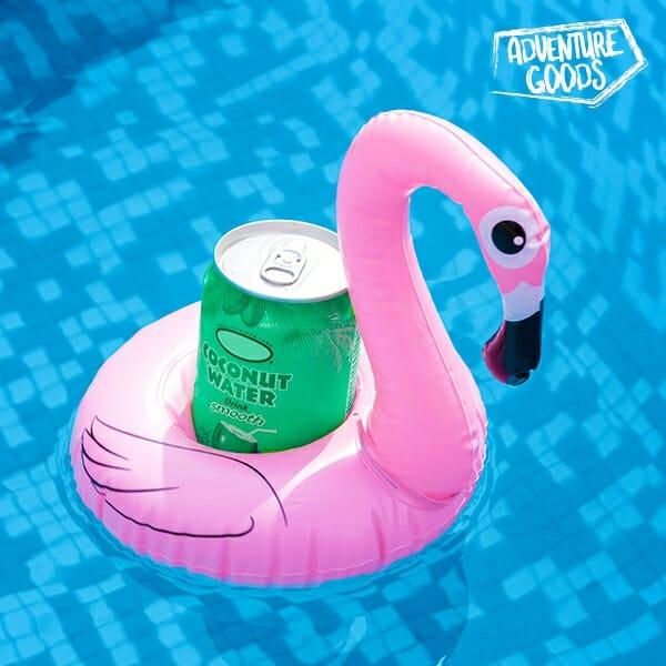 Uppblåsbar flaskhållare Flamingo