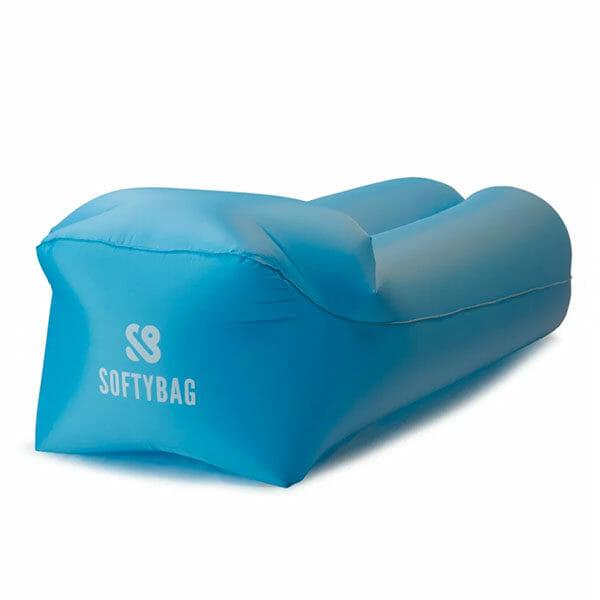 SoftyBag Uppblåsbar Loungesoffa, Blå