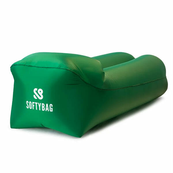 SoftyBag Uppblåsbar Loungesoffa, Grön