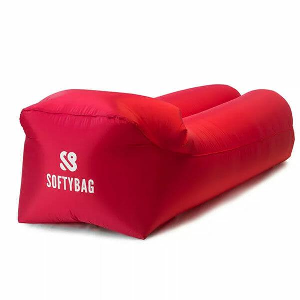 SoftyBag Uppblåsbar Loungesoffa, Röd