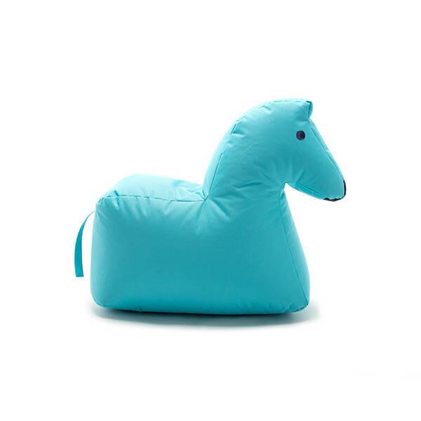 Happy Zoo Lekdjur/Sittsäck Lotte, ljusblå