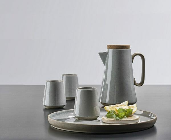 Villa Collection kaffeset terracotta grå