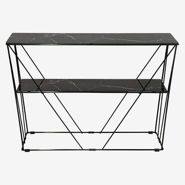 Marble konsolbord, Marmorfolie/svart