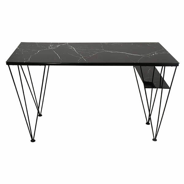 Cube skrivbord, Marmorfolie/svart