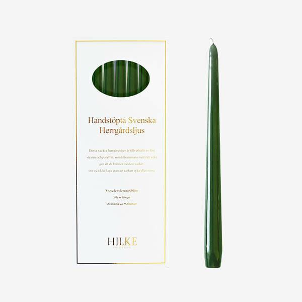 Herrgårdsljus 6-pack, Grön