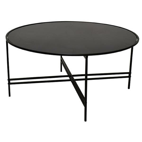 Köp Maison Soffbord, Svart glas svart metall (100 cm) för 1899 kr hos Boldliving se
