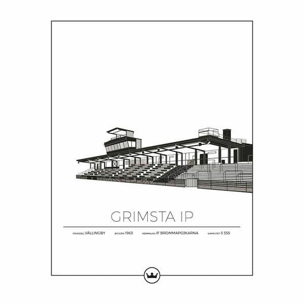 Poster Grimsta Ip Brommapojkarna Vällingby - Stockholm