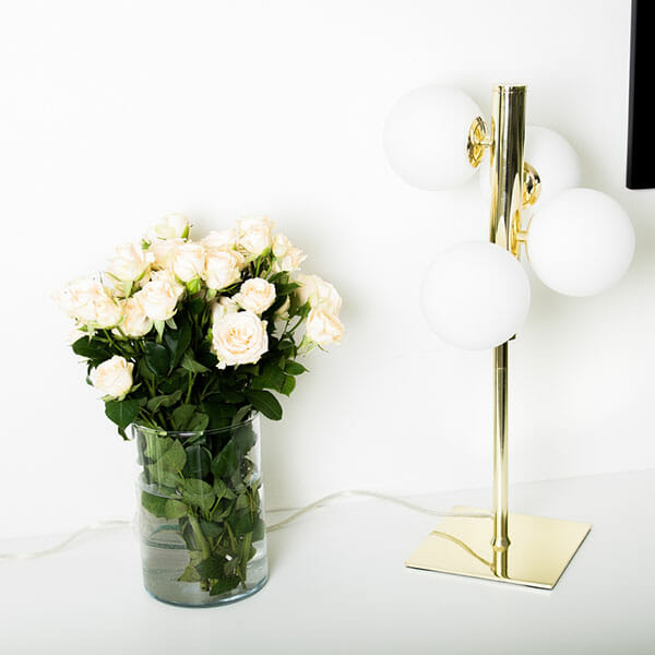 Sandlyckan Bordslampa, Guld