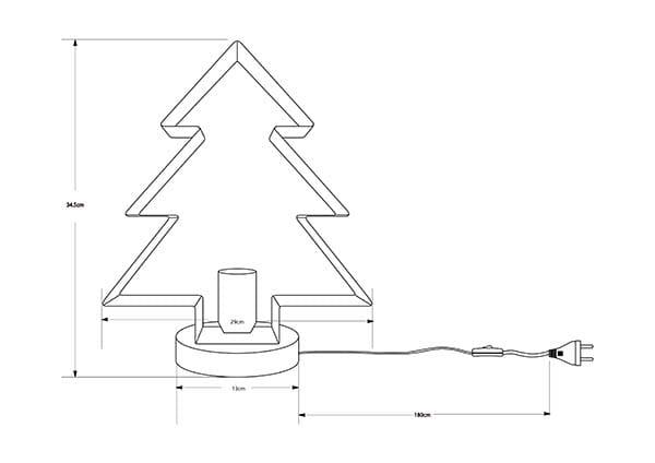 Bordslampa Metallgran Svart