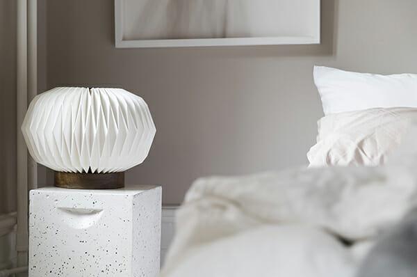 Bordslampa Origami, Vit