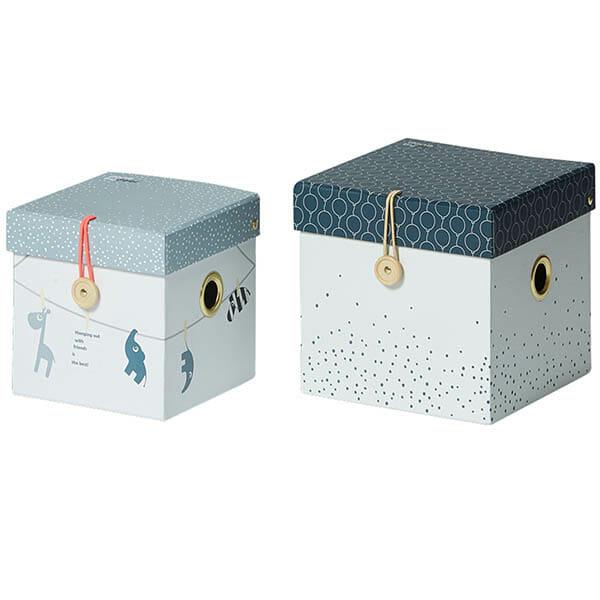 Förvaringsboxar Liten, Blå 2-pack