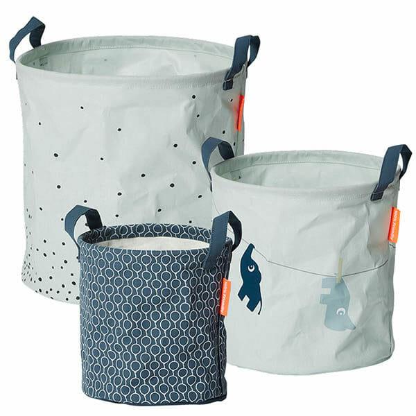 Förvaringskorgar 3-pack Blå