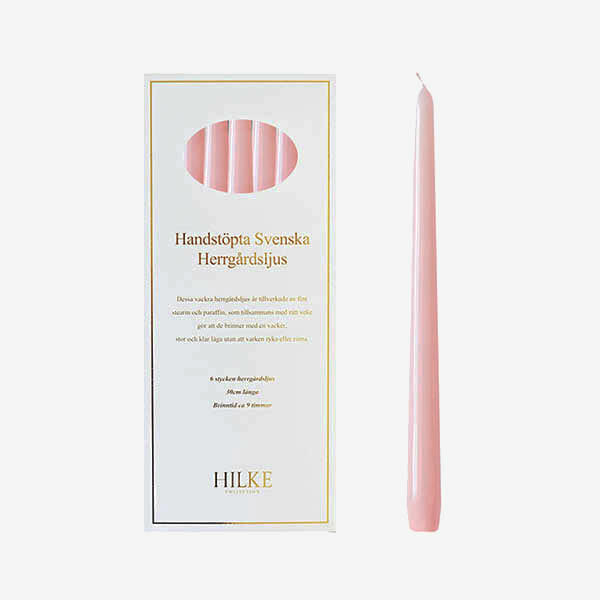 Herrgårdsljus 6-pack, Baby Pink
