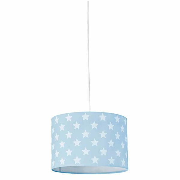 Taklampa Star, Ljusblå/Vit