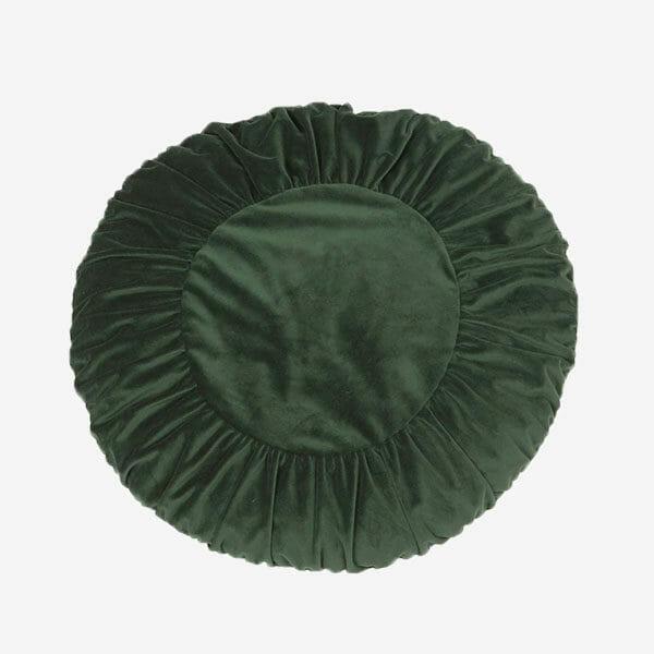 Tilde Kuddfodral sammet, Grön (50 x 50 cm)