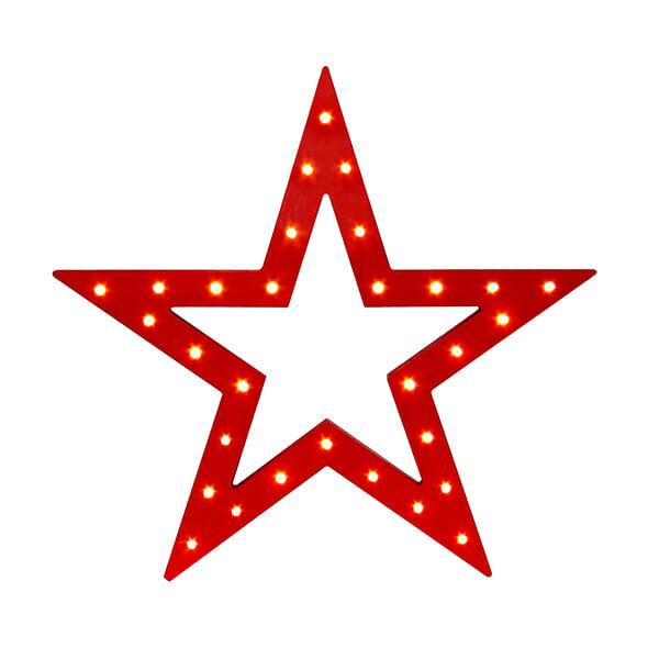 Bordslampa julstjärna, Röd