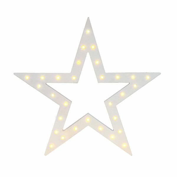 Bordslampa julstjärna, Vit