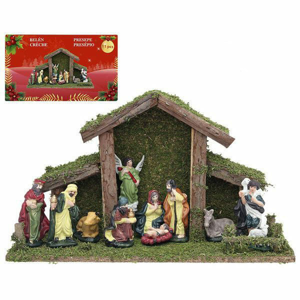 Julkrubba med 9 figurer