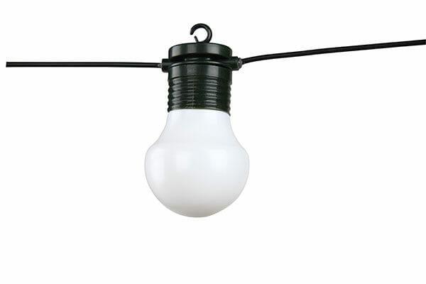 Ljusslinga glödlampor 12 m Vit