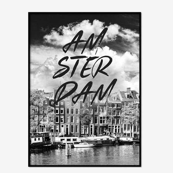 Poster Amsterdam Brushed