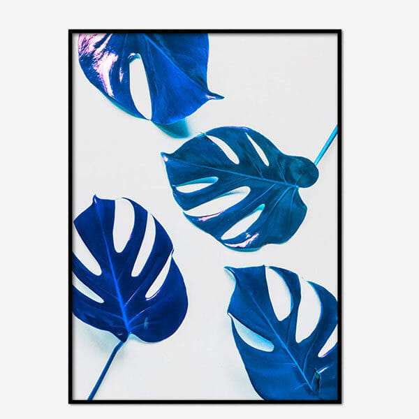 Poster Neon Leaves Four