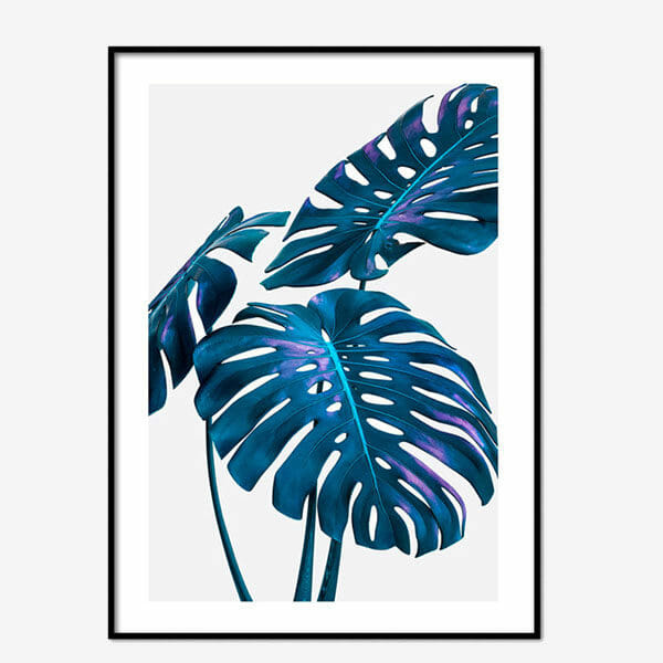 Poster Neon Leaves Two